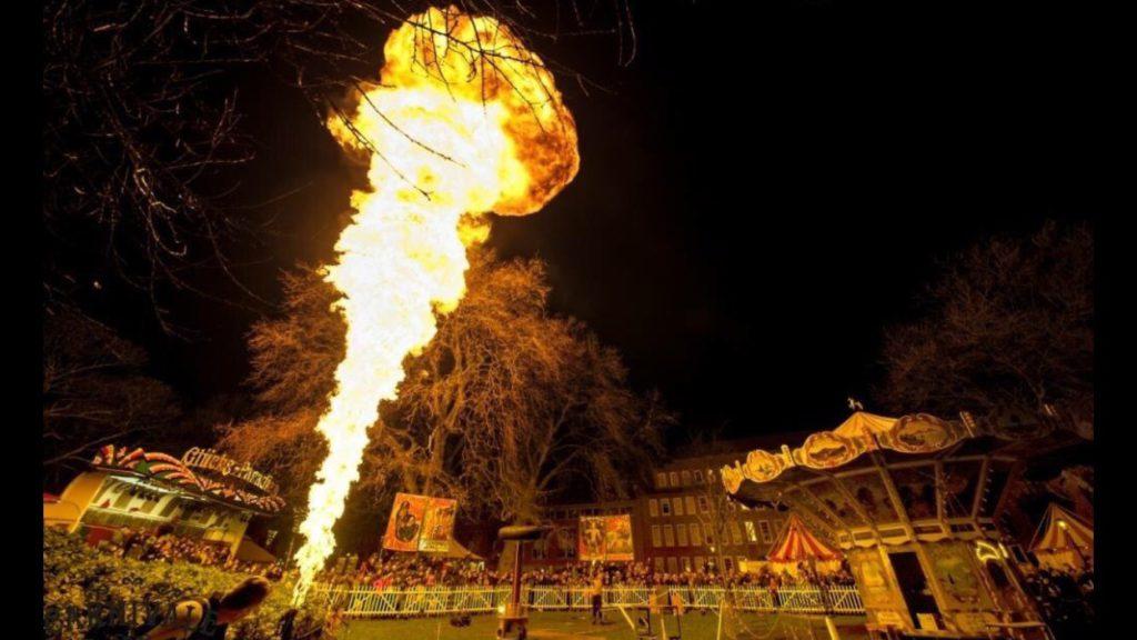 De man van 1,5 miljoen volt aan het werk op de Carnivale van 2015